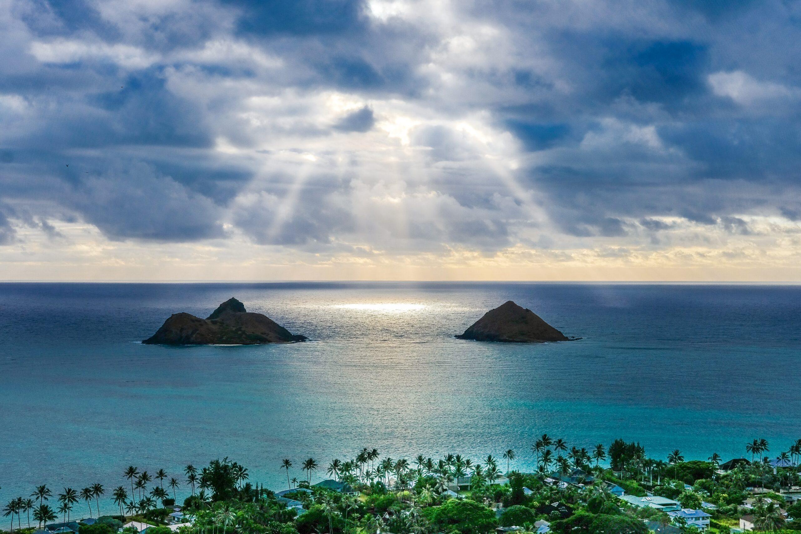 wallpaper Aerial island and beaches