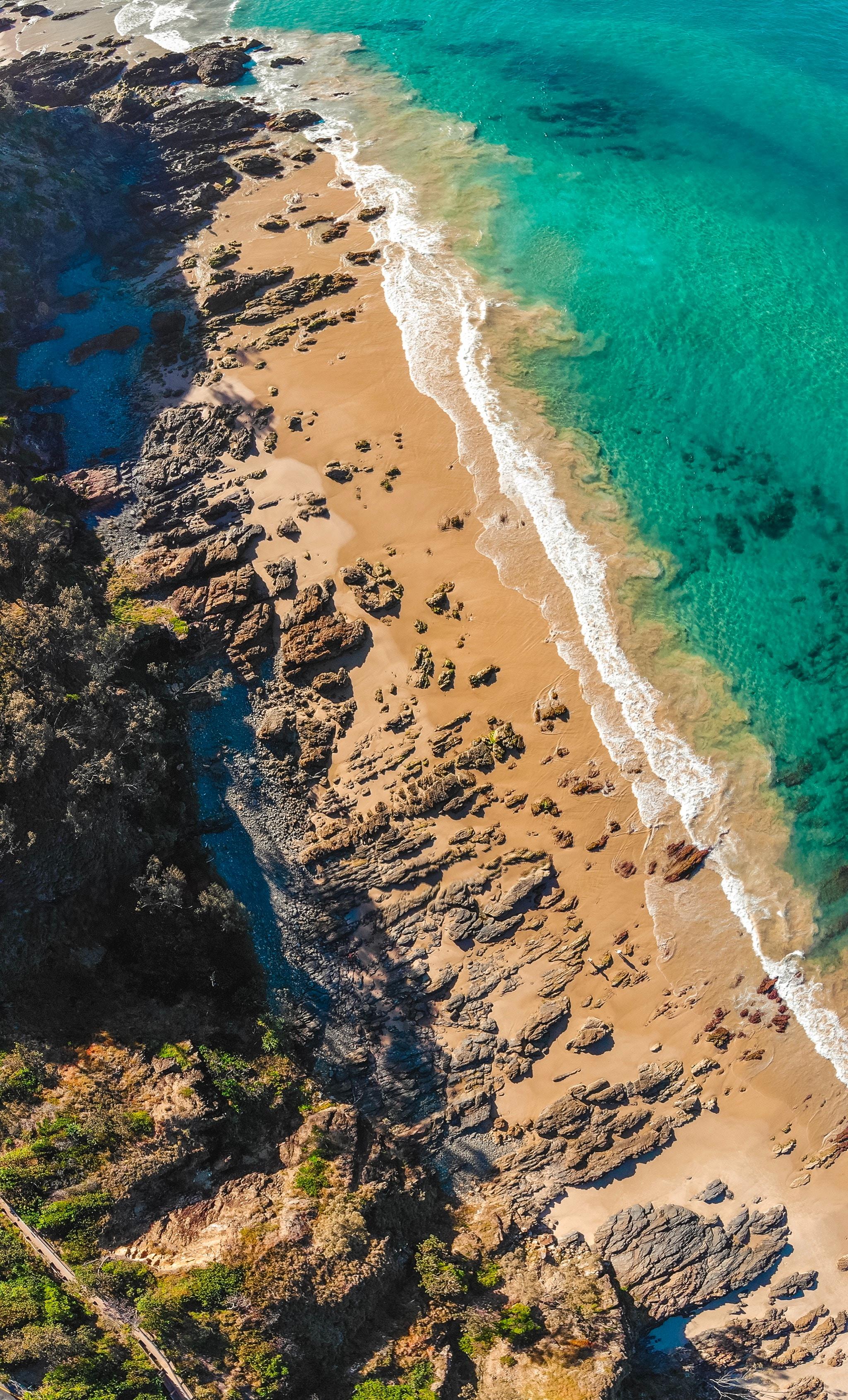wallpaper Aerial view of beach