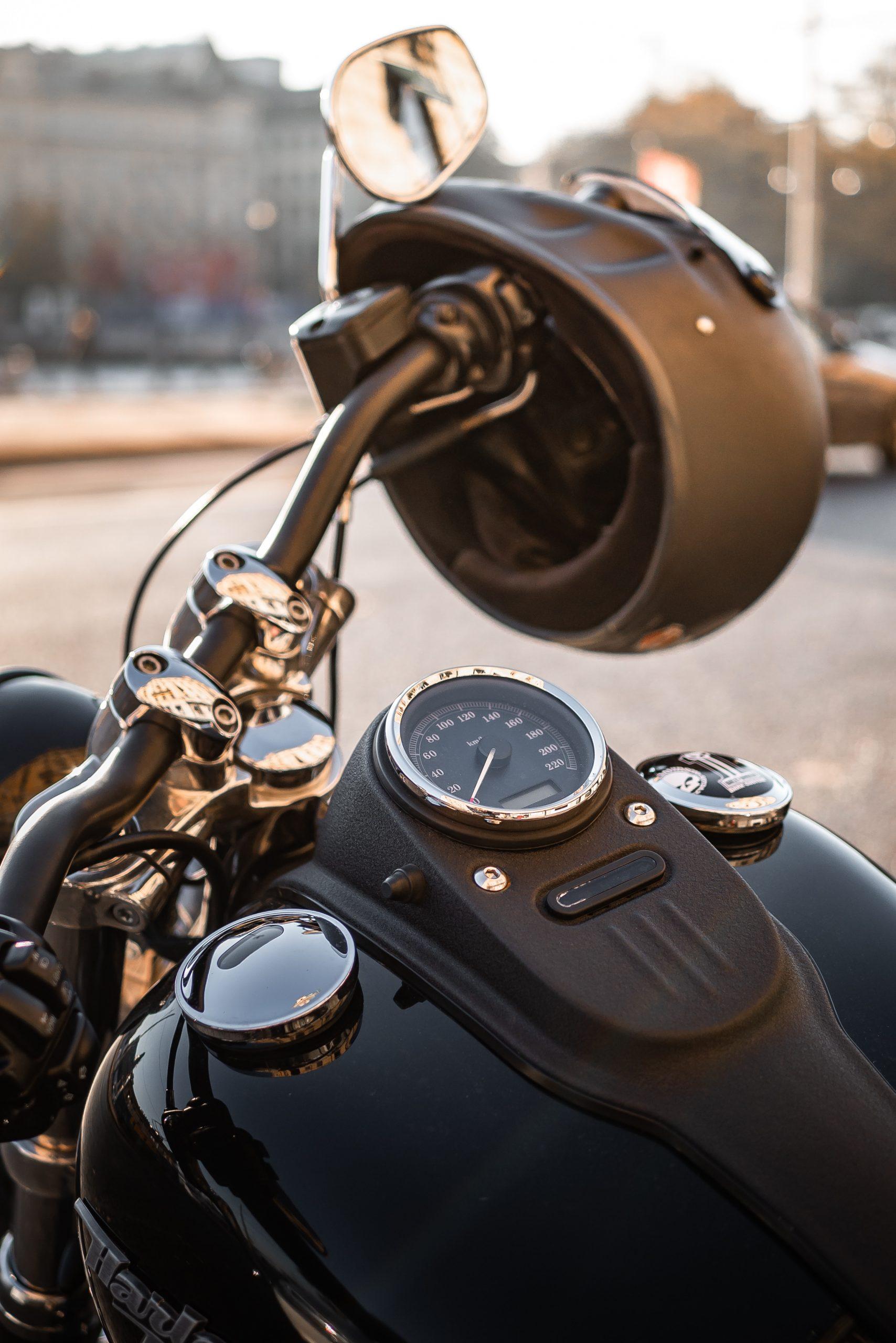 wallpaper Black motorcycle and black motorcycle helmet