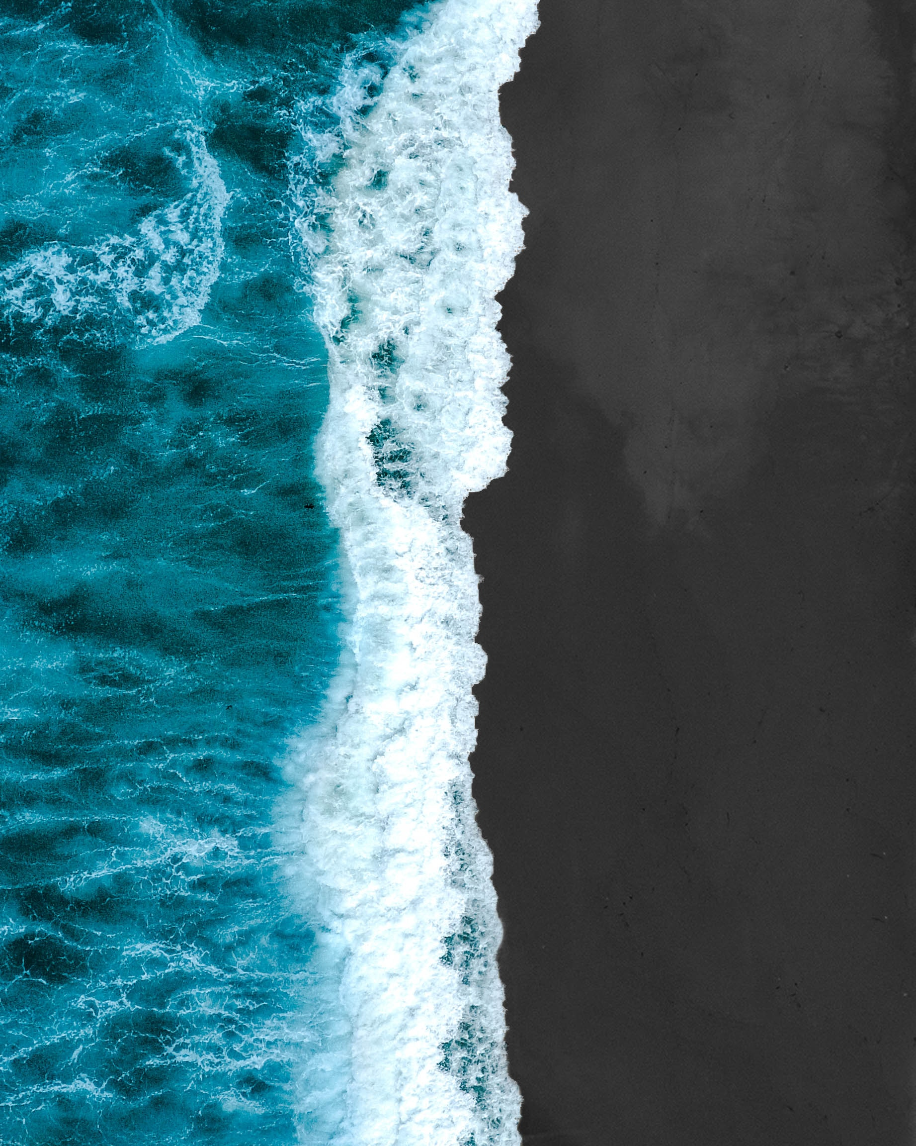 wallpaper Aerial photography of sea wave