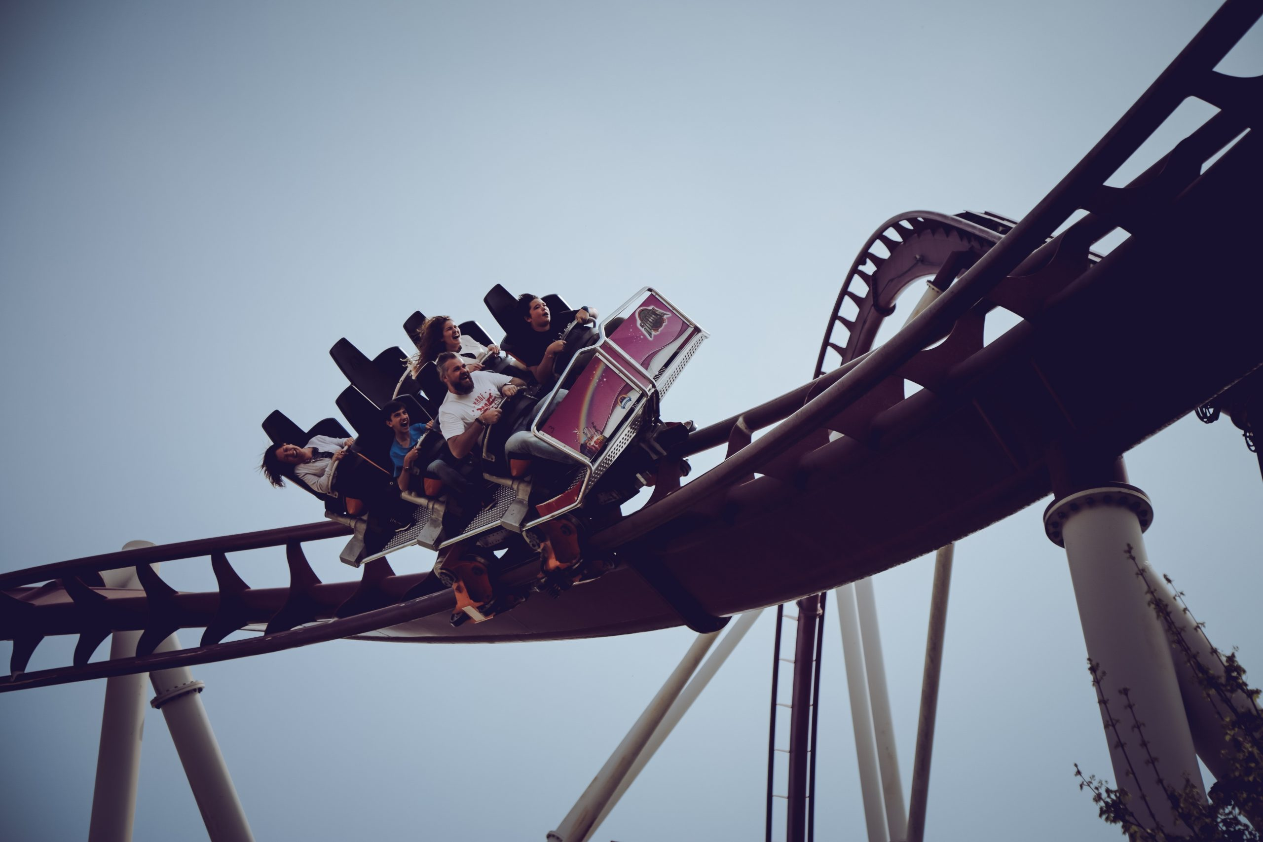 wallpaper Roller coaster at daytime