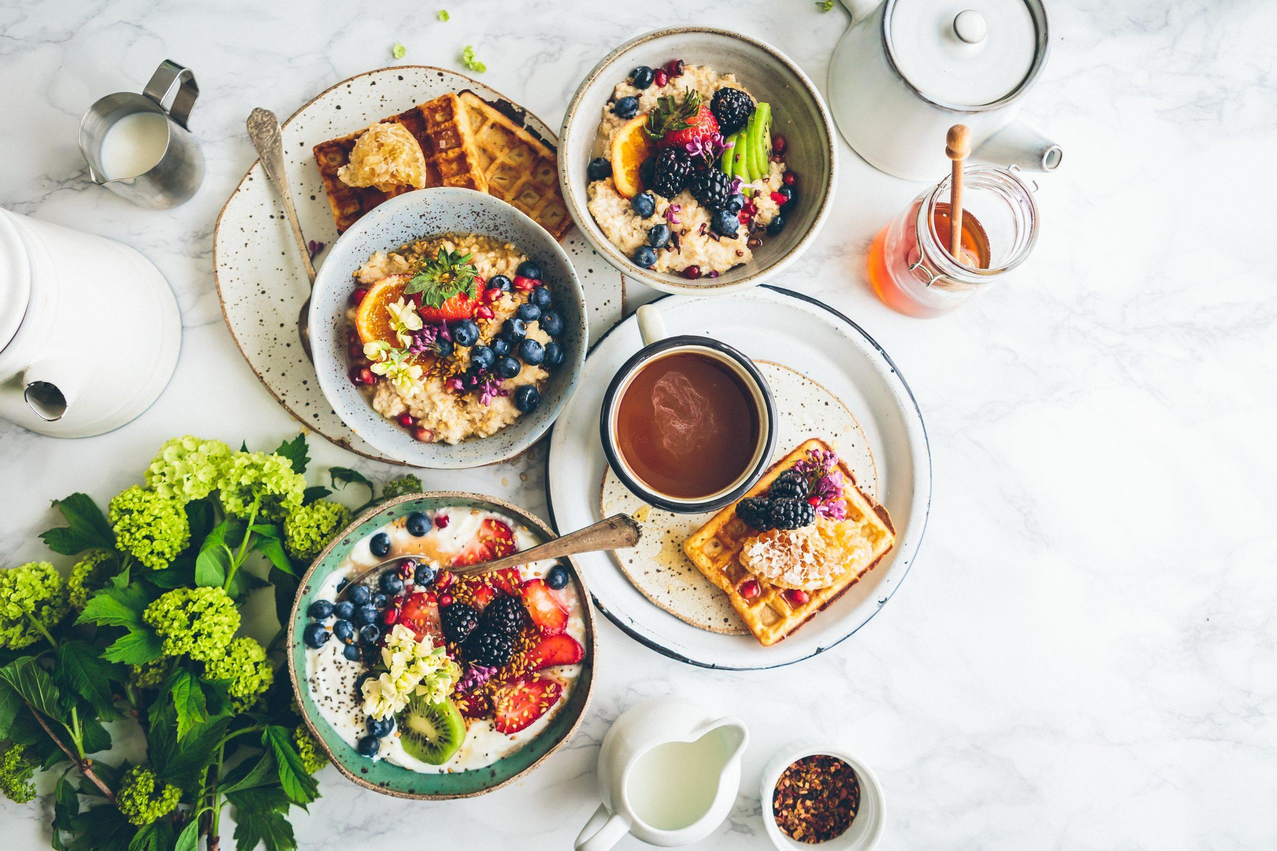 wallpaper Fruit salad on gray bowls
