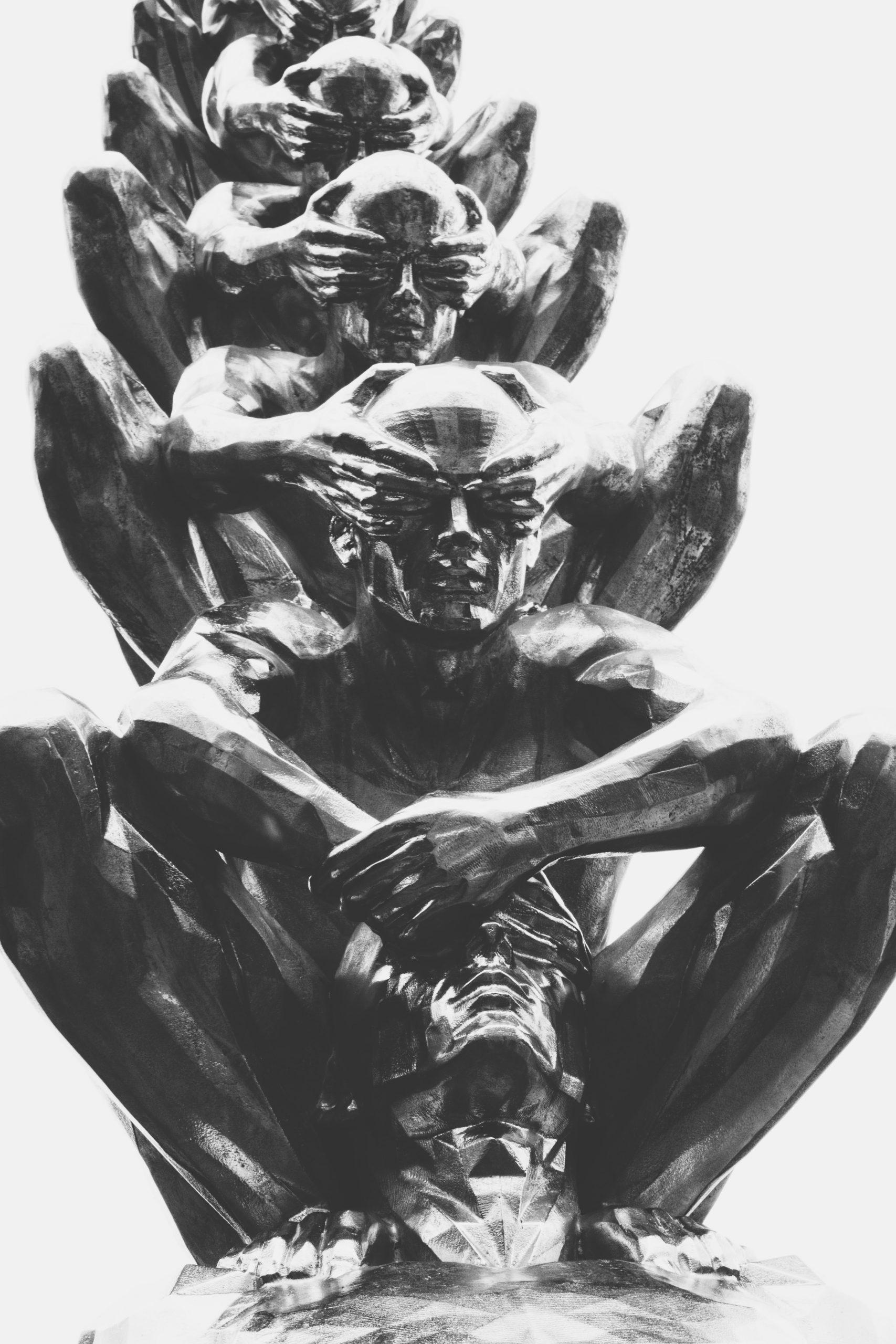 wallpaper Gray statue