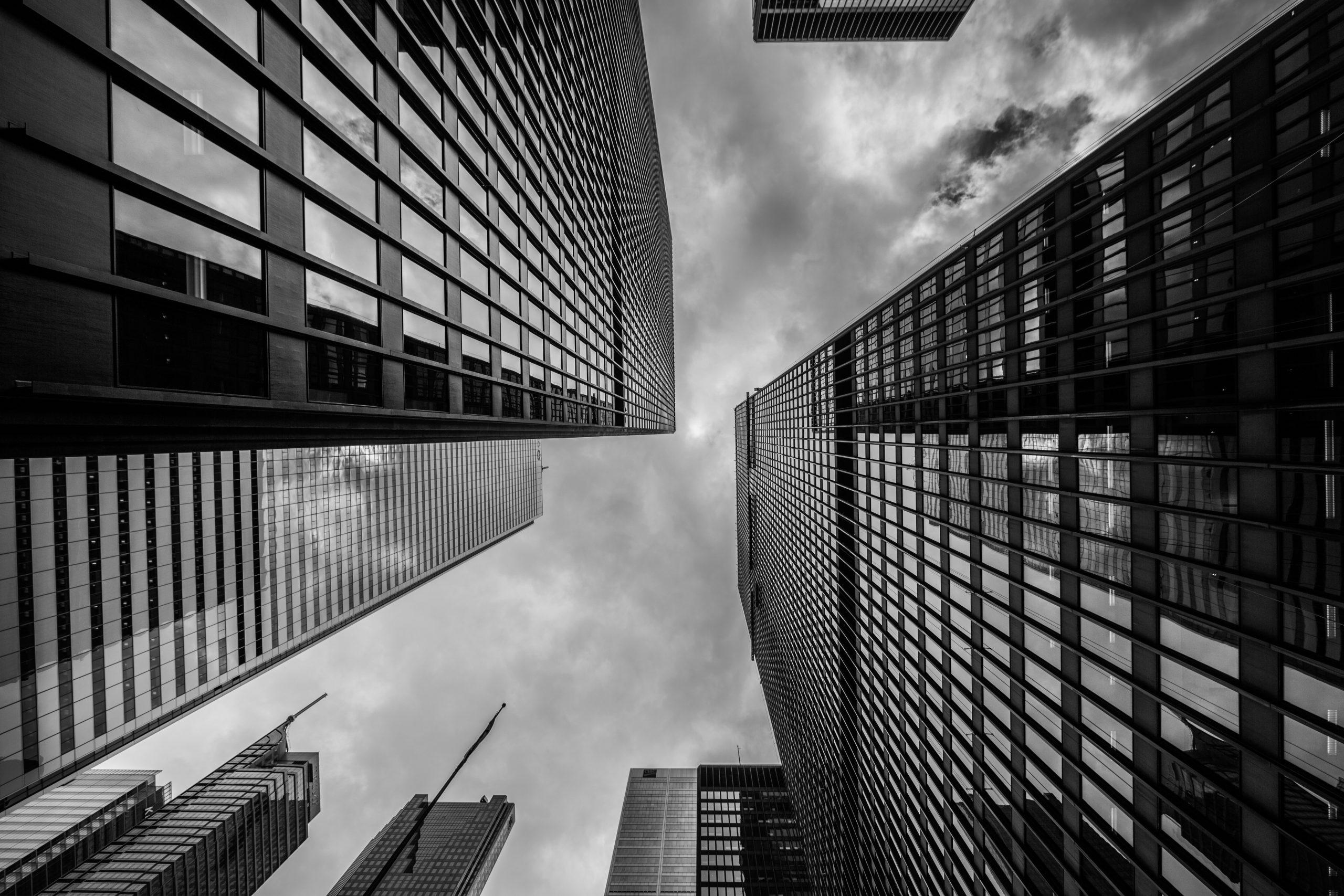 wallpaper Worm's-eye view of buildings