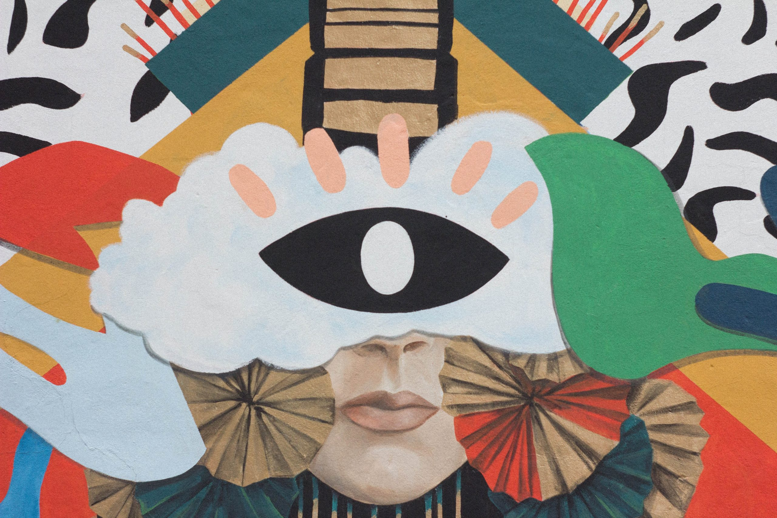 wallpaper Multicolored cyclops painting