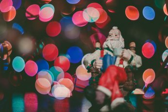 Santa Claus figurine on top of the surface