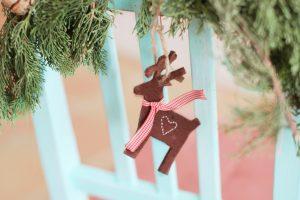 Brown deer hanging decor on chair