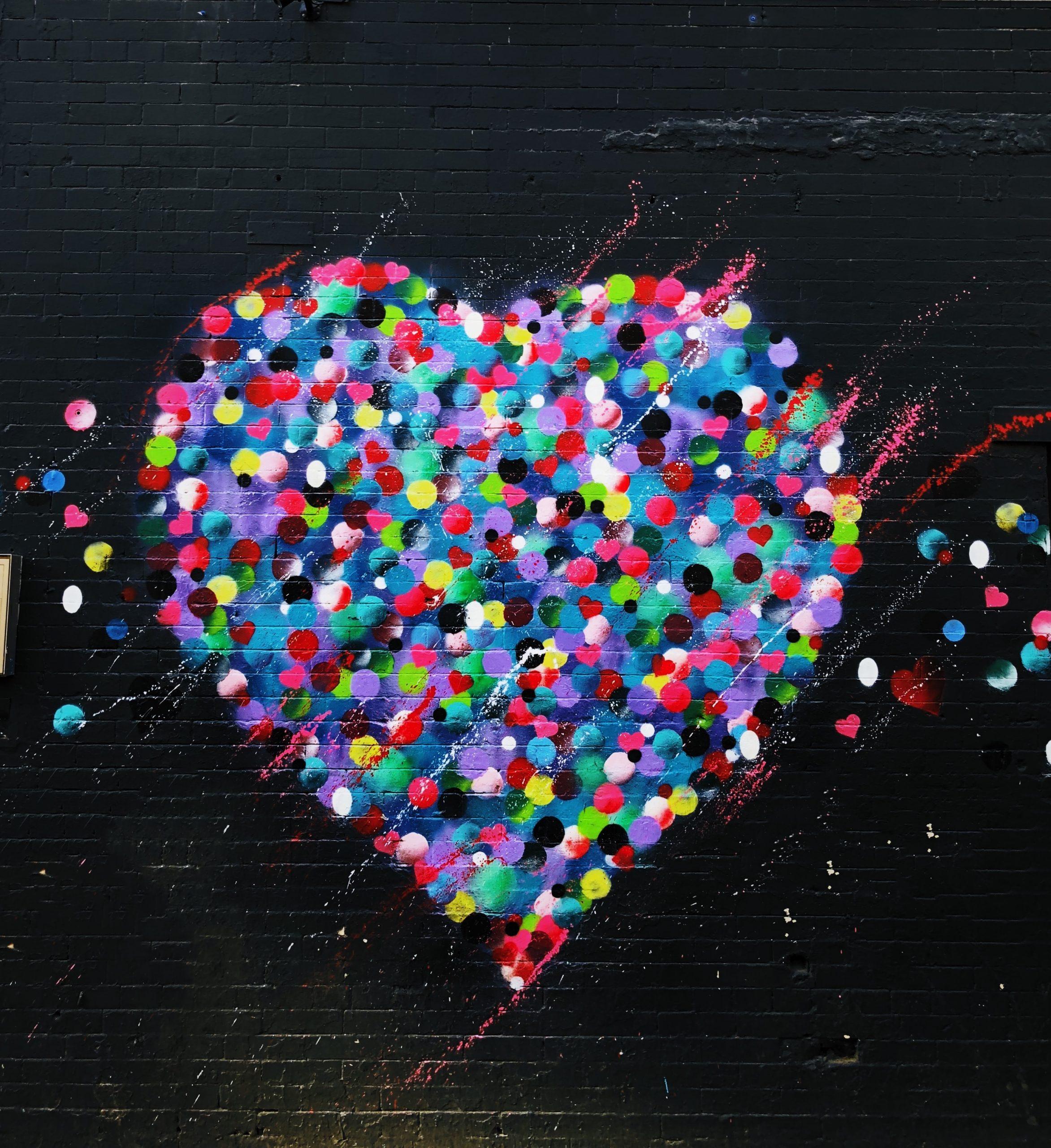 wallpaper Heart grafiti art