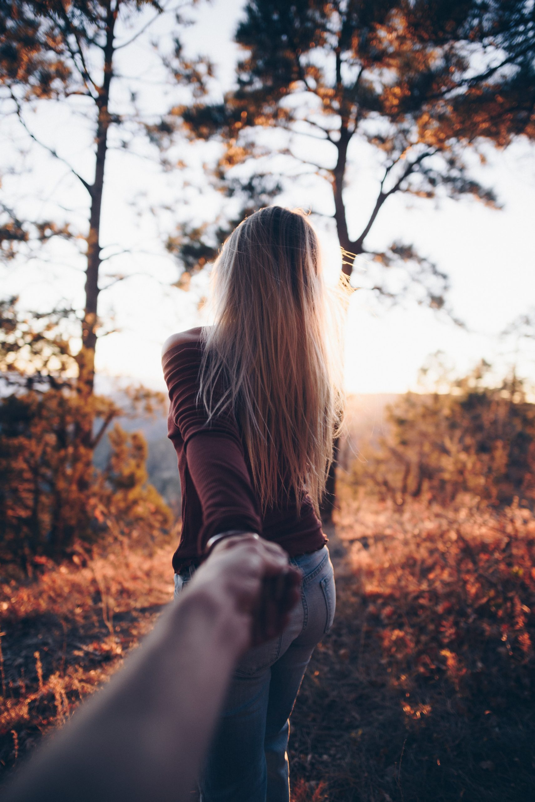 Woman wallpaper holding someone's hand