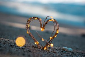 Heart shape sand decor