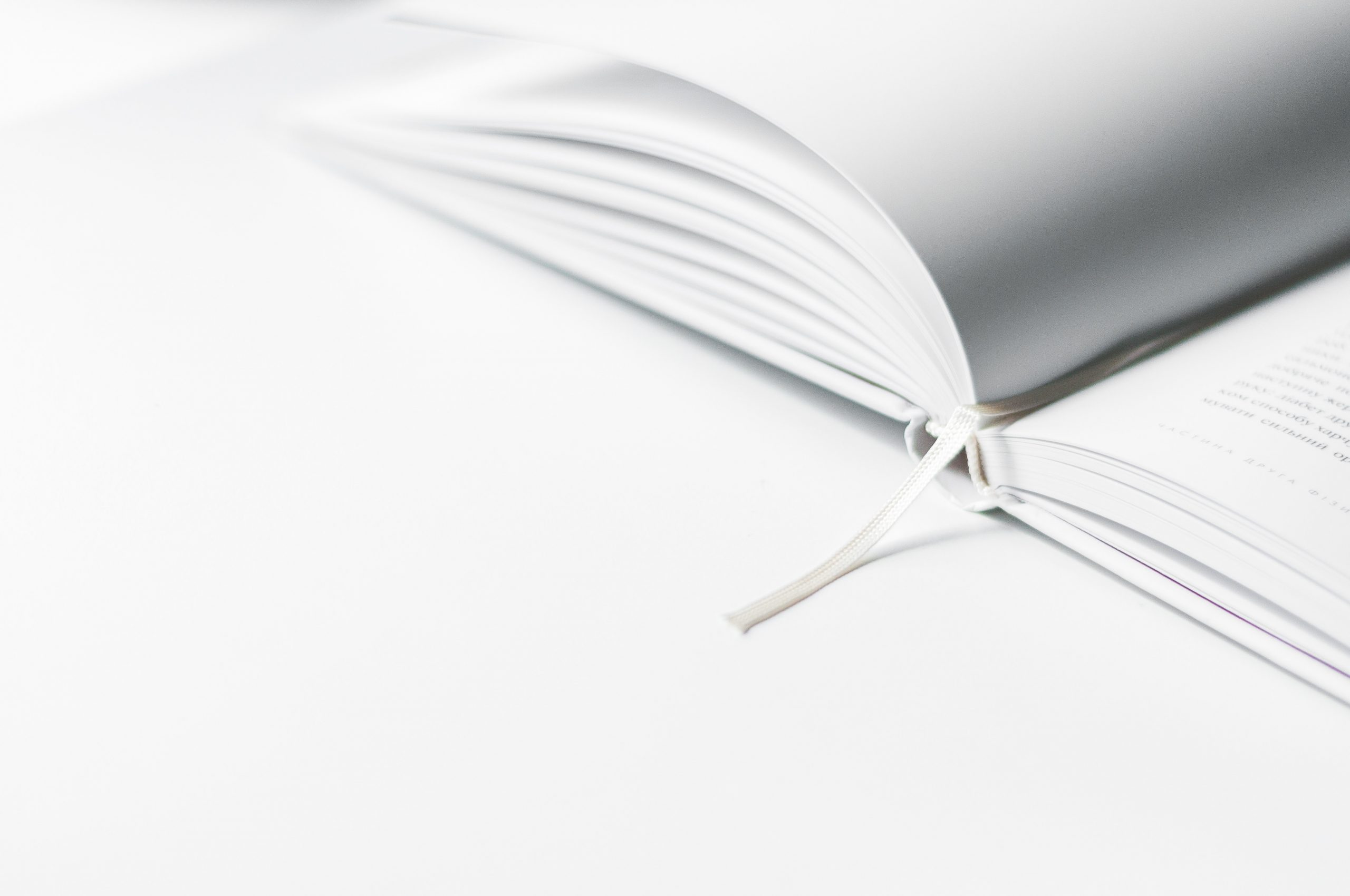 Minimalist Wallpaper White Book Marker On Book Page Wallpaper For You The Best Wallpaper For Desktop Mobile
