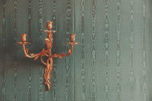 Floral candleholder wallpaper