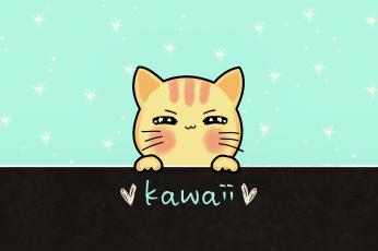 Kawaii cat wallpaper