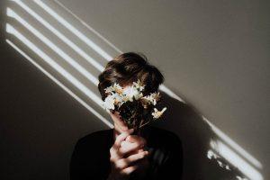 Holding white daisy flowers wallpaper