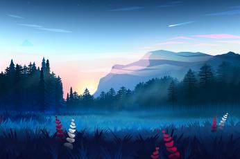 Vector Landscape wallpaper