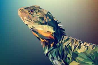 Lizard vector art polygon illustration wallpaper