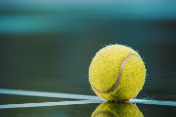 Tennis ball in the rain