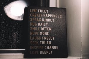 Live fully create happiness speak kindly decor