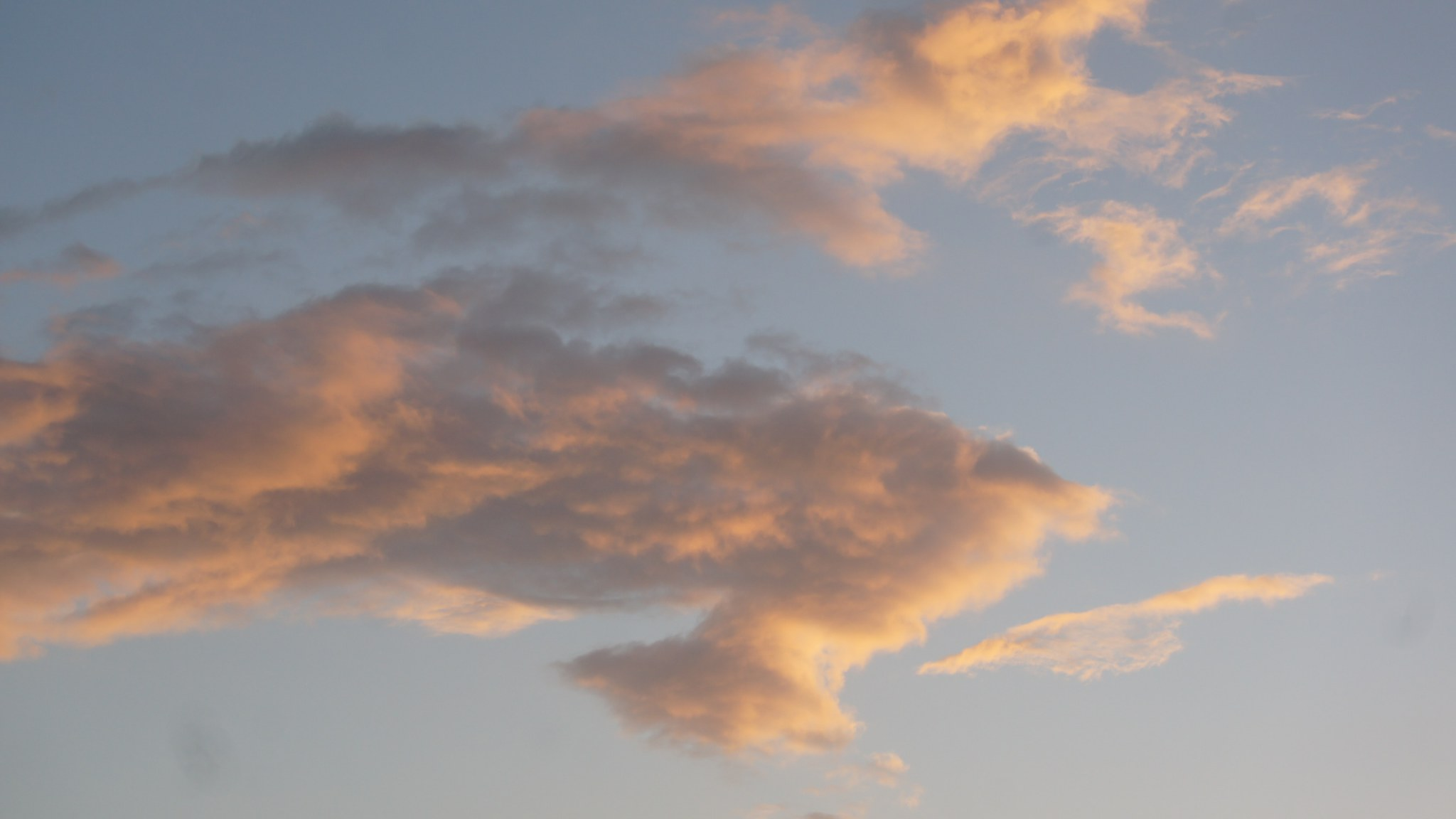 20 Aesthetic Wallpaper Orange And White Clouds Wallpaper