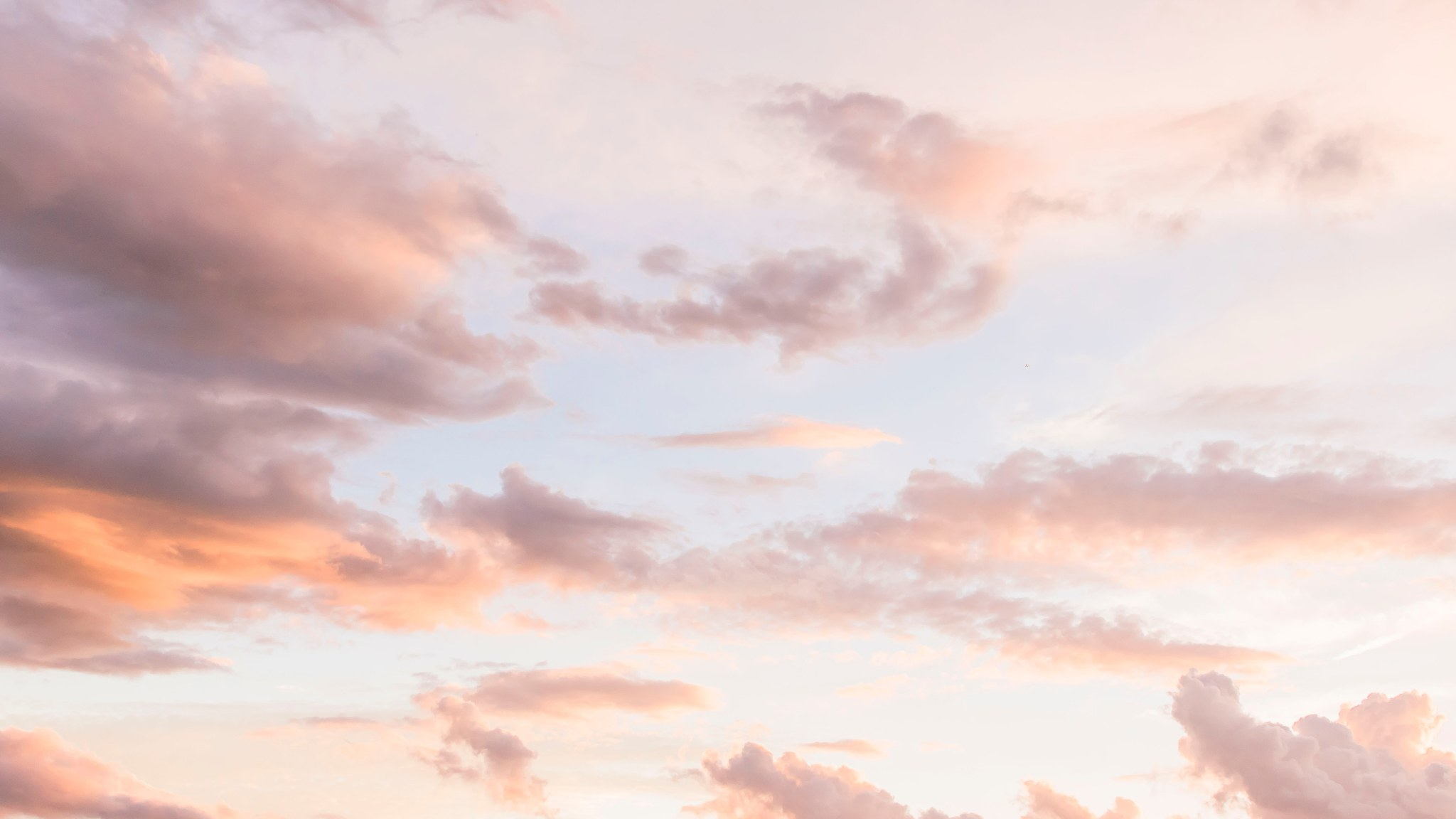 Pastel Wallpaper White Cloud Formations Wallpaper For