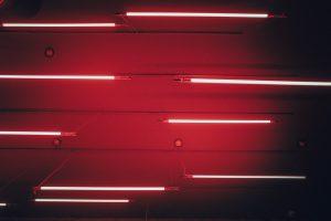 Red LED lights Wallpaper