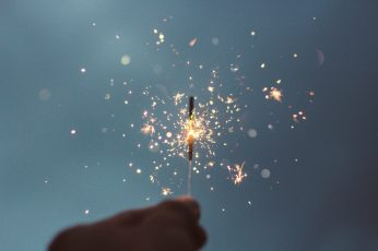 Lighted sparklers wallpaper