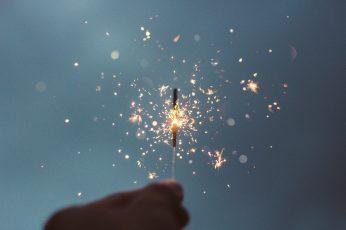 Lighted sparklers wallpaper