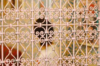 Arabic culture metal frame