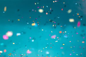 Multicolored confetti lot