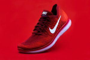 Red Nike sneaker