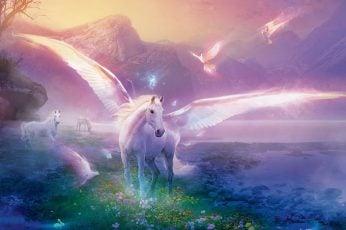 Unicorn Colorful Wallpaper