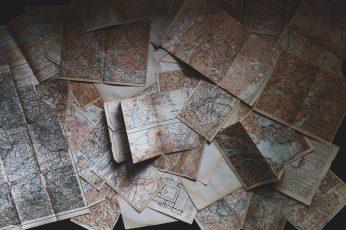 Vintage map wallpaper