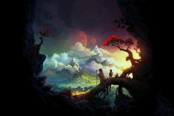 Wallpaper: fantasy Art painting ultra wide Anime Naruto HD Art