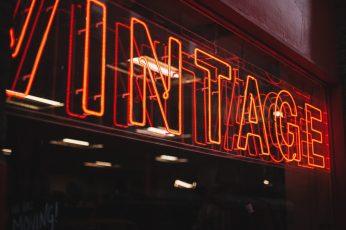 Vintage neon wallpaper