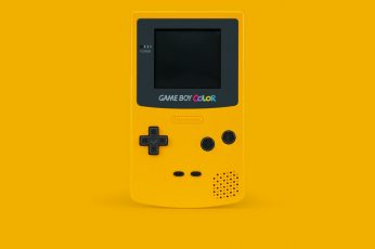 Yellow Gameboy wallpaper