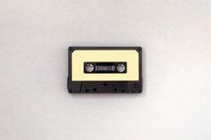 Retro style cassette wallpaper