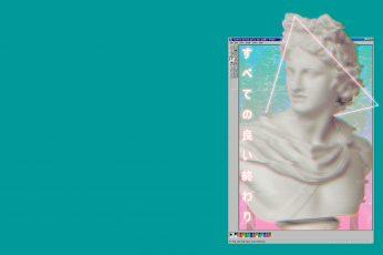 Wallpaper vaporwave, Windows 95, classical art