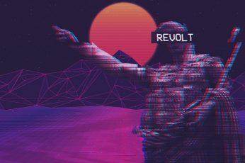 Wallpaper fashwave revolt glitch art vaporwave