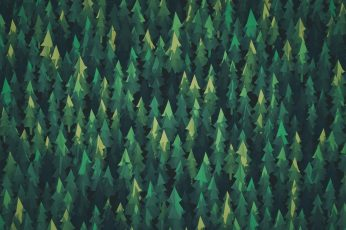 Forest Illustration Aero Vector Art Wallpaper