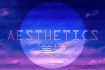 Aesthetics digital wallpaper, vaporwave, kanji, Chinese characters wallpaper