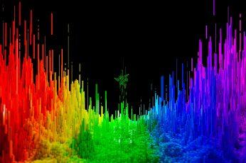 Gaming Laptop Wallpaper, Vibrant, 4K, Dark, Abstract, Razer Blade 15