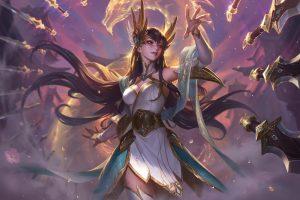 League of Legends, Irelia, fantasy girl, fantasy art, PC gaming