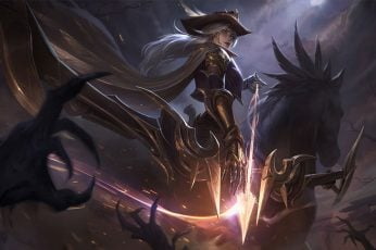 Ashe (League of Legends), Riot Games, High Noon, fire, ADC wallpaper