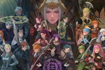 Fire Emblem wallpaper, fire emblem three houses, video game characters