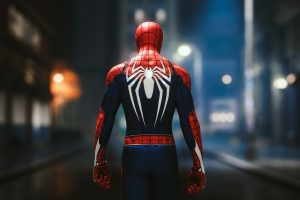 Spider-Man, video games, superhero, Marvel Comics, rear view