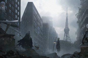 game application digital wallpaper, Square Enix, NieR, Nier: Automata