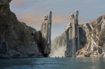 The Lord of the Rings: The Fellowship of the Ring movies Argonath wallpaper