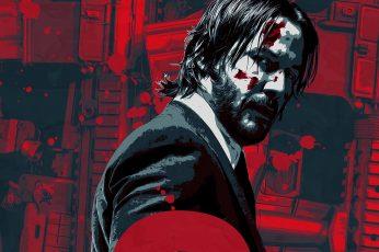 Keanu Reeves John Wick movies John Wick Chapter 2 one person wallpaper