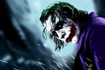Heath Ledger as The Joker poster movies Batman The Dark Knight wallpaper
