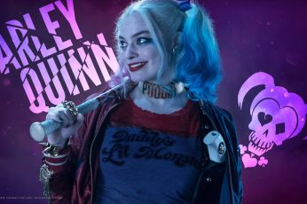 Margot Robbie Harley Quinn wallpaper Movie Suicide Squad one person